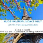 Mas Airlines 3 Days Huge Savings Promotion